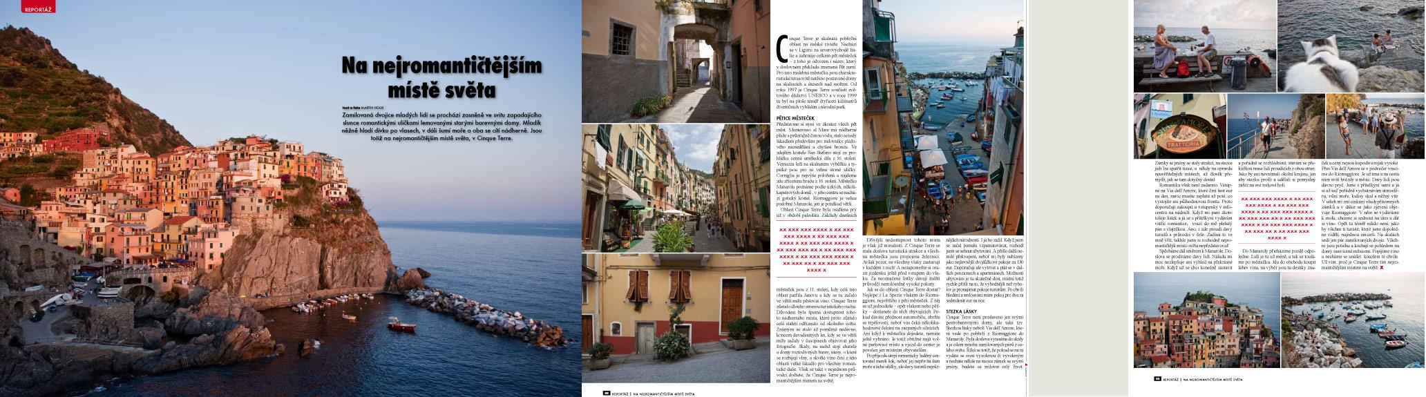 Časopis Xantypa a Cinque Terre
