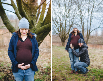 Těhotenská fotografie z jara