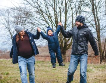 Rodinná fotografie z parku