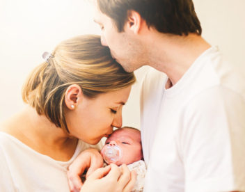 Romantická fotografie s miminkem