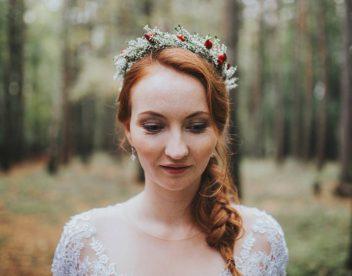 Svatební portrét krásné nevěsty