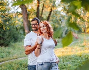 Zamilovaná rodinná fotografie