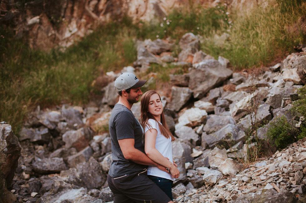 Romantická fotografie v lomu