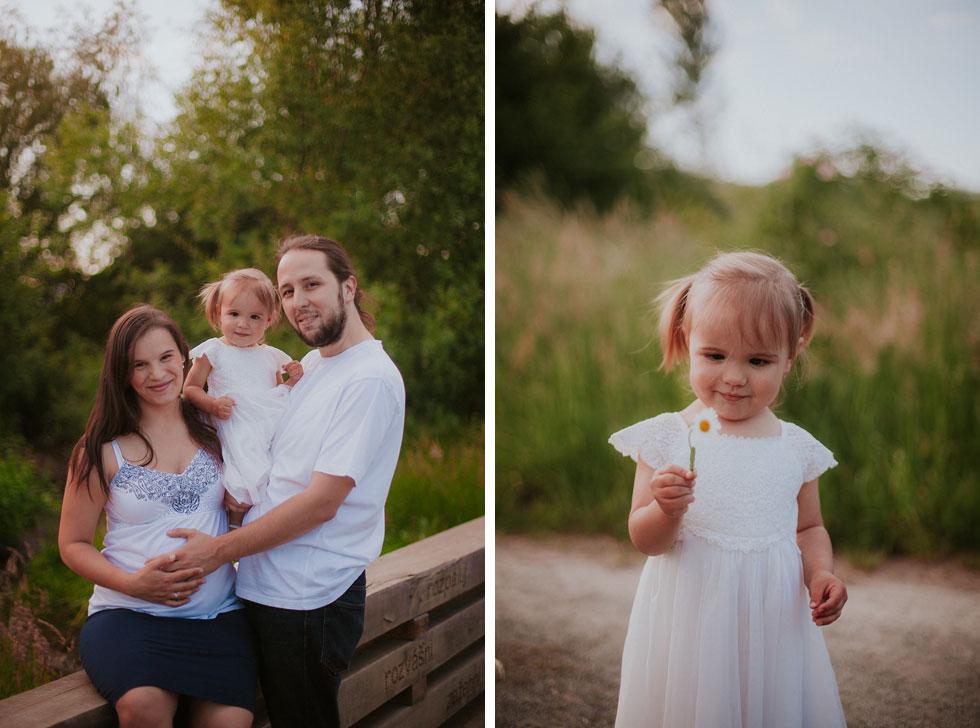 Rodinná fotografie na mostě