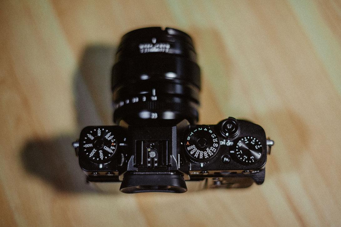 Horní strana fotoaparátu Fujifilm X-T3