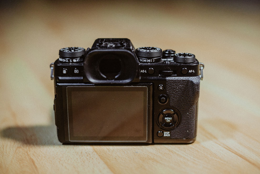 Zadní strana fotoaparátu Fujifilm X-T3